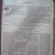 Documentos antiguos: SEGOVIA.-ANUARIO DEL COMERCIO.-INDUSTRIA.-COMERCIO.-TIENDAS.-MADRID.-BAILLY-BAILLIERE.-AÑO 1905.. Lote 144767238