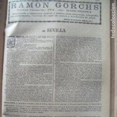 Documentos antiguos: SEVILLA.-ANUARIO DEL COMERCIO.-INDUSTRIA.-COMERCIO.-TIENDAS.-MADRID.-BAILLY-BAILLIERE.-AÑO 1905.. Lote 144767298
