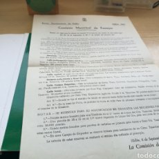 Documentos antiguos: ANTIGUO DOCUMENTOS INFORMATIVO DE LA COMISIÓN DE FIESTAS DE HELLÍN (ALBACETE), 1967. Lote 145143530