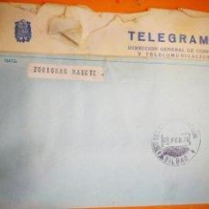 Documentos antiguos: TELEGRAMA 1976. Lote 145850026
