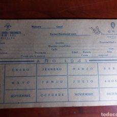 Documentos antiguos: FALANGE ESPAÑOLA TRADICIONALISTA Y DE LAS J.O.N.S. Lote 145974125