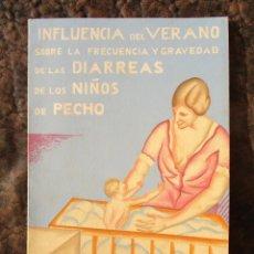 Documentos antiguos: FOLLETO REPUBLICA ESPAÑOLA DIRECCION GENERAL SANIDAD INFLUENCIA DEL VERANO LECHE DE PECHO NIÑOS POLY. Lote 146071246