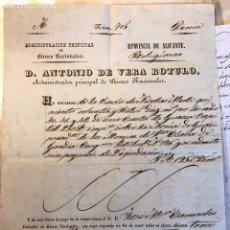 Documentos antiguos: ADMINISTRACIÓN BIENES NACIONALES. GANDÍA. DENIA.1843. Lote 146155710