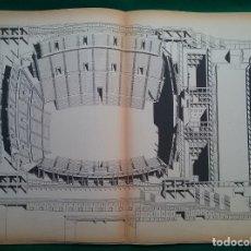 Documentos antiguos: ARATA ISOZAKI ARQUITECTURA PLANOS PALAU SANT JORDI PROYECTO ANILLO OLÍMPICO BARCELONA '92. Lote 146265886
