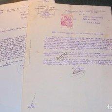 Documentos antiguos: FERROCARRIL - 3 DOCUMENTOS - 1948/1965- LE OTORGAN CARGO DE FOGONERO , . Lote 146354786