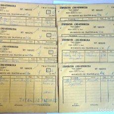 Documentos antiguos: LOTE DE 8 ANTIGUOS DOCUMENTOS COOPERATIVA AGRO-VITIVINICOLA VER FOTOS. Lote 146521810