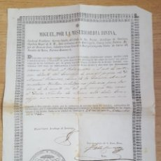 Documentos antiguos: SANTIAGO DE COMPOSTELA INDULGENCIA 100 DÍAS 1866. Lote 146621894