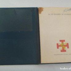Documentos antiguos: COLECCIONISMO DE LA OJE : CARPETA ACTIVIDADES DE UN NIÑO DE CARAVACA ( MURCIA ) , 1965. Lote 146714078