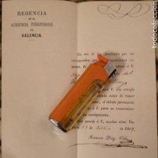 Documentos antiguos: REGENCIA AUDIENCIA VALENCIA, 1869, NOMBRAMIENTO SUPLENTE JUEZ DE PAZ. Lote 146810188