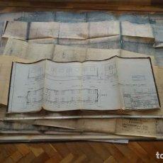 Documentos antiguos: 11 PLANOS, MODELOS FERROVIARIOS, TRENES, GRANDES Y DISTINTOS TAMAÑOS. PAPELES DECADA 1940. Lote 146857030