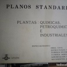 Documentos antiguos: PLANOS STANDARD PLANTAS QUÍMICAS PETROLEOQUÍMICAS E INDUSTRIALES 1981 115 PAGINAS DE PLANOS . Lote 146985654