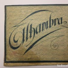 Documentos antiguos: SOBRE ALHAMBRA. Lote 147072726