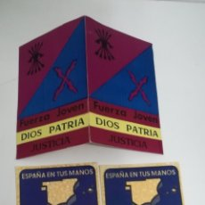 Documentos antiguos: 2 PEGATINAS Y CARPETA DE FUERZA JOVEN. Lote 147088350
