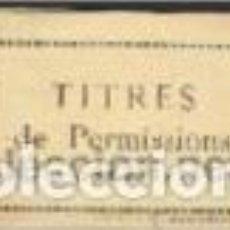 Documentos antiguos: 2ª REGIÓN AÉREA.(PERMISOS), FRANCIA. 20-3-1950. Lote 147088690