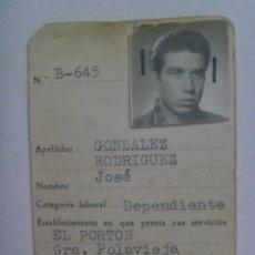 Documentos antiguos: CERVEZA Y CERVECEROS : CARNET DEL CLUB CRUZCAMPO. SEVILLA, 1961. Lote 147097982