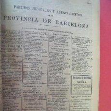Documentos antiguos: BARCELONA-PROVINCIA.-ANUARIO DEL COMERCIO.-INDUSTRIA.-TIENDAS.-COMERCIOS.-ESTABLECIMIENTOS.-AÑO 1905. Lote 147900050