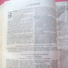 Documentos antiguos: CACERES.-ANUARIO DEL COMERCIO.-INDUSTRIA.-TIENDAS.-COMERCIOS.-ESTABLECIMIENTOS.-AÑO 1905. Lote 147900186