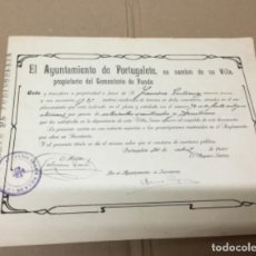Documentos antiguos: ANTIGUO DOCUMENTO COMPRA TUMBA EN EL CEMENTERIO. Lote 148203986