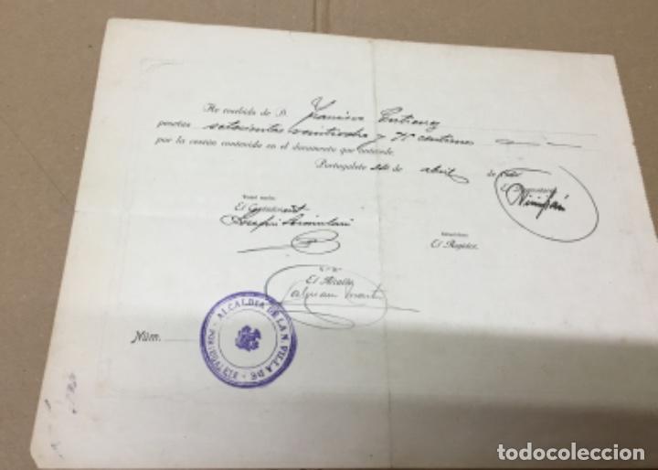 Documentos antiguos: Antiguo Documento compra tumba en el cementerio - Foto 2 - 148203986