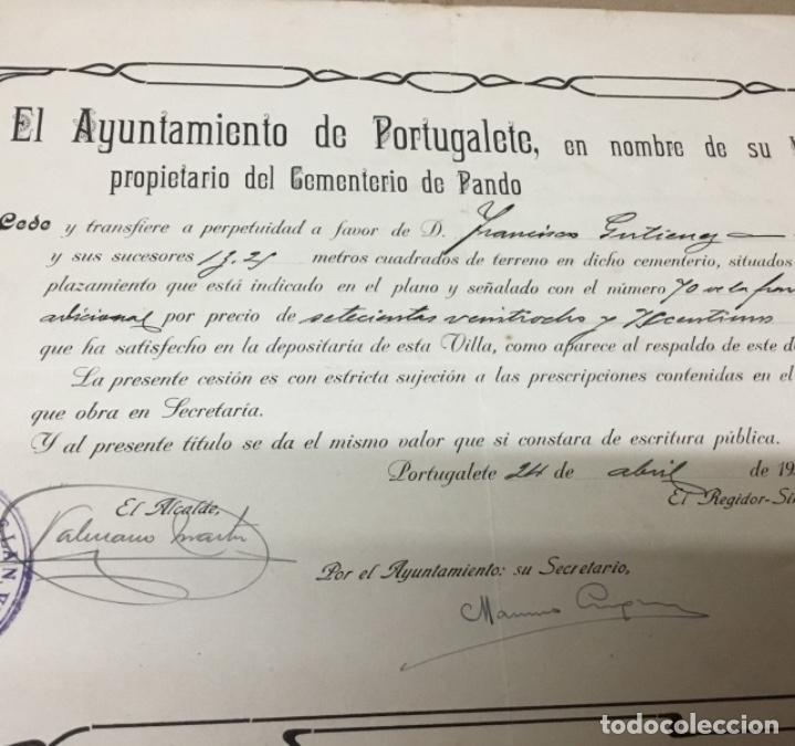 Documentos antiguos: Antiguo Documento compra tumba en el cementerio - Foto 3 - 148203986