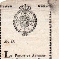 Documentos antiguos: SEMANA SANTA SEVILLA, SIGLO XIX, CONVOCATORIA NAZARENOS HERMANDAD DE LA BORRIQUITA, 68X210MM. Lote 148220762