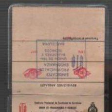 Documentos antiguos: CARNET PROFESOR TITULAR UNIÓN D TRABAJADORES Y TECNICOS ESCUELA DE CONDUCTORES D AUTOMOVILES 1977. Lote 148221782