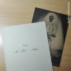 Documentos antiguos: MENU ENLACE BODA 1968 - FOTO DE LA NOVIA EN PRENSA DIARIA / MARIA DEL PILAR ORTEGA MORENO - SICILIA. Lote 148247490