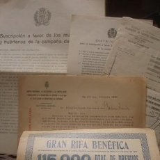 Documentos antiguos: MUTILADOS Y HUÉRFANOS DE LA CAMPAÑA DE ÁFRICA - PORTAL DEL COL·LECCIONISTA *****. Lote 148282854