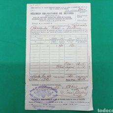 Documentos antiguos: REGIMEN OBLIGATORIO DE RETIROS , 1925 CAJANDE PREVISIÓN SOCIAL DEL REINO DE VALENCIA. Lote 148338301