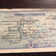 Documentos antiguos: HOSPITALET. CÉDULA 1927. Lote 148557370