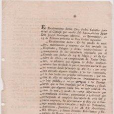Documentos antiguos: CIRCULAR POR ORDEN DEL REY DIRIGIDA A TRIBUNALES, AUDENCIAS, JUSTICIAS, ARZOBISPOS, OBISPOS.. - 1802. Lote 148589138