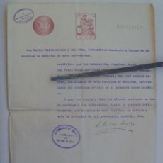 Documentos antiguos: UNIVERSIDAD SEVILLA - FACULTAD DE MEDICINA : CERTIFICADO MATRICULA, 1932. TIMBRE REPUBLICA. Lote 148795390