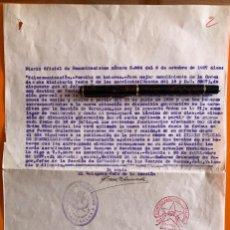 Documentos antiguos: CARTAGENA- MURCIA- GUERRA CIVIL- SUSPENSION HABERES CARTERO- UGT- 1.937. Lote 148901342