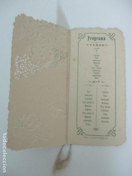 Documentos antiguos: Catálogo Modernista Troquelado - Societat de Balls de Vallvidrera - Programa 15, 16 Agost 1903 -1904 - Foto 4 - 149278198