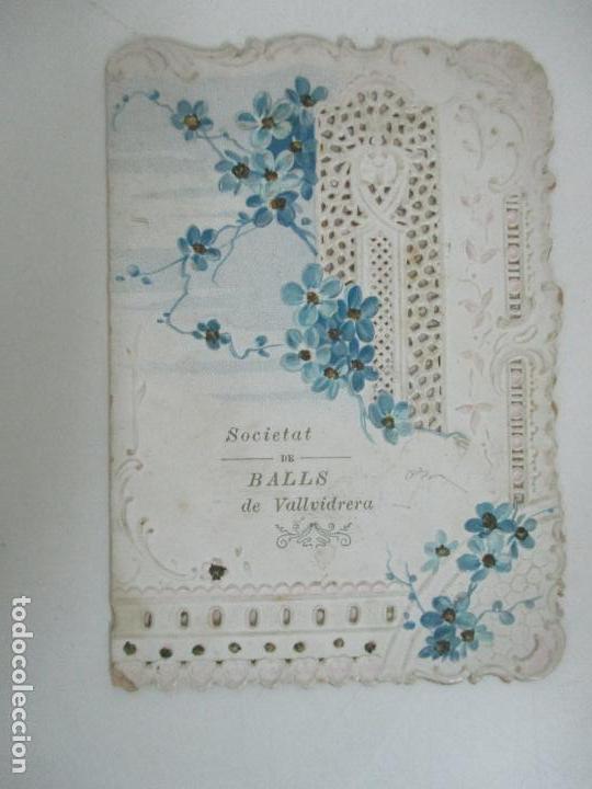 Documentos antiguos: Catálogo Modernista Troquelado - Societat de Balls de Vallvidrera - Programa 15, 16 Agost 1903 -1904 - Foto 7 - 149278198