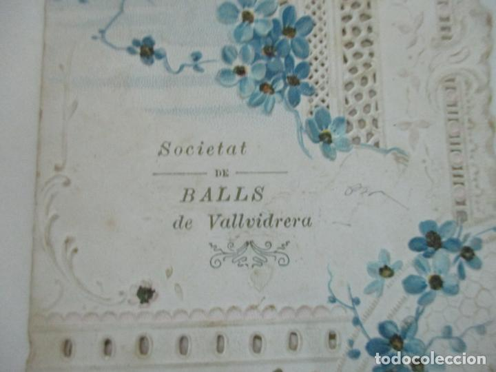 Documentos antiguos: Catálogo Modernista Troquelado - Societat de Balls de Vallvidrera - Programa 15, 16 Agost 1903 -1904 - Foto 8 - 149278198