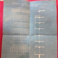 Documentos antiguos: ANTIGUO PLANO GERONA 1929. PROJECTO DE REFORMA FINCA .. Lote 149457388
