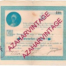 Documentos antiguos: SEMANA SANTA SEVILLA, 1929, PAGARE HERMANDAD DEL BUEN FIN, RARISIMO DOCUMENTO. Lote 149793338