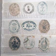 Documentos antiguos: COLECCIÓN SELLOS HÚMEDOS DE ORGANISMOS. MAYORÍA DE BALEARES.. Lote 149870901
