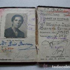 Documentos antiguos: RENFE : CARNET IDENTIDAD DE PENSIONISTA DE LA RED DE FERROCARRILES ESPAÑOLES. 1948. Lote 149909966