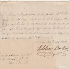 Documentos antiguos: RECIBO DE 120 PESETAS DE LA ACEQUIA DEL MESTALLA AL TRIBUNAL DE LAS AGUAS DE VALENCIA 1902 -D-18. Lote 149914894