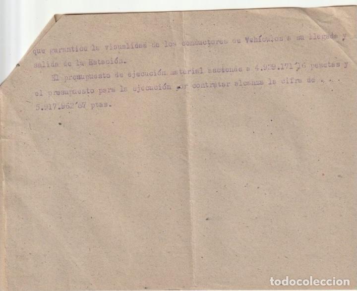 Documentos antiguos: PROYECTO DE 1ª ESTACION CENTRAL DE AUTOBUSES DE VALENCIA ZONA DE NAVARRO REVERTER 1939 - -D-18 - Foto 2 - 149956830