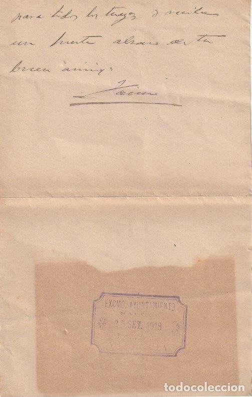 Documentos antiguos: EL JEFE DE LA SECCION DE POSITOS DE CORDOBA ( DEPOSITO DE CEREAL DE CARACTER MUNICIPAL) 1918 - -D-18 - Foto 2 - 149975046