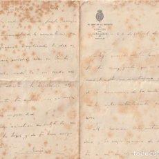 Documentos antiguos: EL JEFE DE LA SECCION DE POSITOS DE ZARAGOZA (DEPOSITO DE CEREAL DE CARACTER MUNICIPAL) 1912 --D-18. Lote 149976078