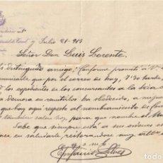 Documentos antiguos: EL SECRETARIO DE LA DIPUTACION PROVINCIAL DE TERUEL JULIO DE 1913. - -D-18. Lote 149977962