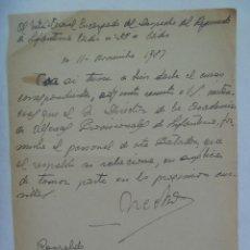 Documentos antiguos: GUERRA CIVIL : RECOMENDACION PARA ACADEMIA ALFERECES PROVICIONALES , 1937. MANUSCRITA.. Lote 150183034