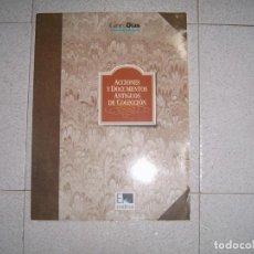 Documentos antiguos: CARPETA ACCIONES Y DOCUMENTOS ANTIGUOS DE COLECCION. Lote 150254858