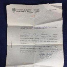 Documentos antiguos: COMISARIA ABASTECIMIENTOS CERTIFICADO RESERVISTA DE EXCEDENTE CUPONES 1950. Lote 150679854
