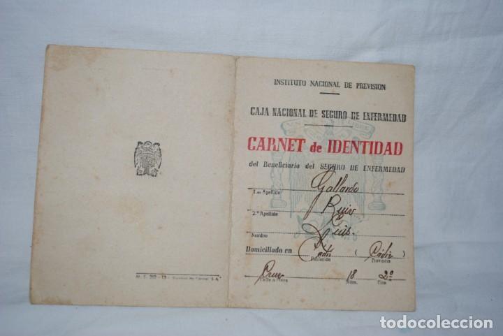 CARNET DE IDENTIDAD 1944 (Coleccionismo - Documentos - Otros documentos)