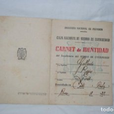 Documentos antiguos: CARNET DE IDENTIDAD 1944. Lote 150813174